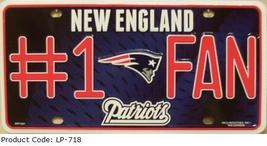 New England Patriots #1 Fan NFL Embossed Metal Novelty License Plate Tag Sign 71 - $9.95