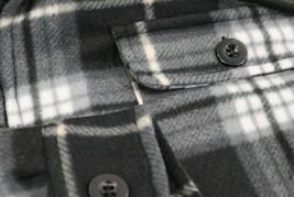 Men's Heavyweight Zip Up Soft Fleece Plaid Sherpa Lined Drawstring Hoodie Jacket image 2