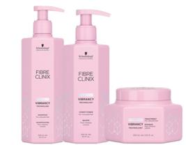 Schwarzkopf Fibre Clinix Vibrancy Shampoo, Conditioner &Treatment