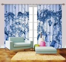 3D Ice Cube Water 057 Blockout Photo Curtain Print Curtains Drapes US Lemon - $177.64+