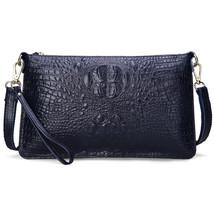 SoAr Women Bag Genuine Leather Crocodile Pattern Handbags Women Messenger Bags C - $24.98