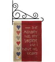 My Soldier Burlap - Impressions Decorative Metal Fansy Wall Bracket Gard... - $33.97