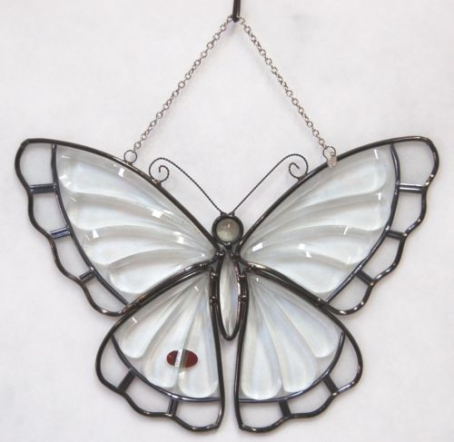 Amia Denver Company Clear Glass Butterfly Sun Catcher Hanger Included