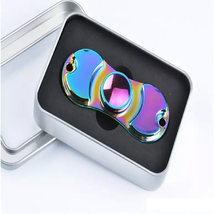 Aluminum Metal Rainbow Hand Spinner Fidget - One Item w/Random Color and Design image 1