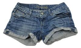 American Eagle Women's Blue Jean Short Shorts Size 2 - $8.79