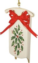LENOX Holiday Sleigh Ornament New In Box $60 - $34.53