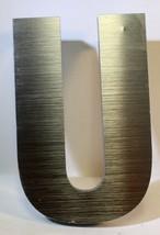 "6 "" Acryl Stahl-Ausführung Optik Industriell Buchstabe "" U "" .5 Dick 3d Schild - $8.62"
