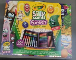 Crayola Silly Scents MIni Art Case 16 Crayons/16 Markers/20 Coloring Pag... - $27.99
