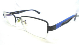 Ray-Ban RB 6264 2509 Black/Blue 51-18-135 Rectangular Hald Rim Eyeglasse... - $29.99