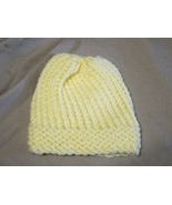 Handmade Knitted Yellow Infant Winter Hat Cap CUTE - $8.91