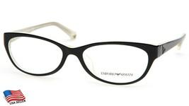 New Emporio Armani Ea 3008F 5051 Black Ivory Eyeglasses Frame 53-16-140 B32mm - $34.64
