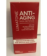 NEW LUMATONE ANTI-AGING SKIN DEFENSE BLOOD ORANGE EXTRACT BIOTIN - 30 SO... - $9.78