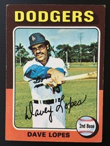 1975 Topps #93 Dave Lopes  Los Angeles Dodgers Baseball Card - $1.48