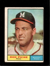 1961 TOPPS #61 RON PICHE RC GOOD CREASES *A11002  - $1.49