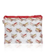 Dachshund Hot Dog Single Zipper Makeup Bag  - $20.00