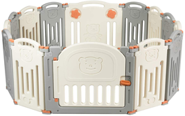 Petsite 14-Panel Baby Safety Playpen Pets Dog Gate Fence Play Yard With ... - $167.30