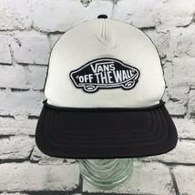 "Vans ""Off The Wall"" Mens OSFA Snapback Trucker Hat Black Meshback Cap Flaw - $14.84"