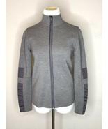 Prada Womens Jacket Sweater Gray Wool Zippered Mock Neck Long Sleeves Sz 40 S - $95.95