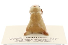 Hagen-Renaker Miniature Ceramic Rabbit Figurine Honey Bunny Brown image 4