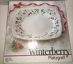 Pfaltzgraff Winterberry Platter Square 5181427 New - $19.64