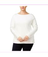 INC Women's Plus Size Long Sleeve Boatneck Rhinestone Sweater - $35.47