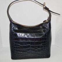 Dooney & Bourke Paige Sac Leather Croco Emb Hobo Blue image 6
