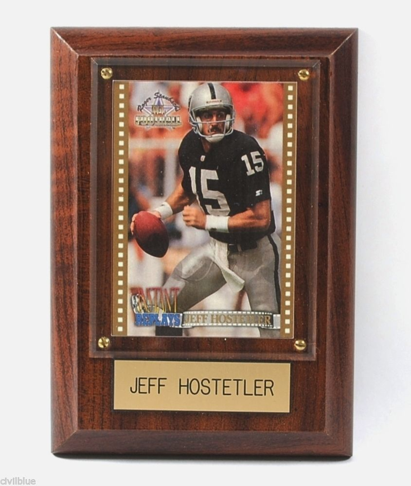 Jeff Hostetler Limited Edition Hologram Plaque Sports Collectibles NFL 4x6 Box