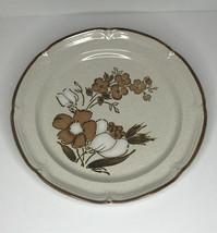 "Hearthside Baroque Autumn Fair Stoneware Platter Floral Pattern 12"" Diameter - $15.69"