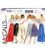 Vintage 1982 Misses' SKIRTS Pattern 8302-m Size 8 - UNCUT - $12.00