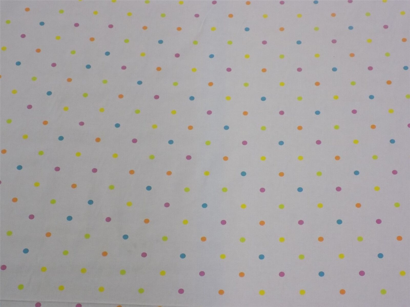 Spots and Dots White Orange Pink Cotton High Quality Fabric Material 3 Sizes