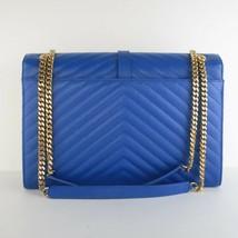 YSL Saint-Laurent Blue Caviar Large Envelope Bag - $1,798.60