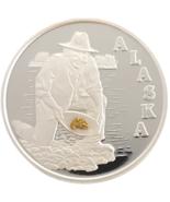 Alaska Mint Alaskan Gold Panner Joe Medallion Silver Medallion Proof 1 Oz - $83.70