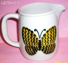 SCANDINAVIAN(FINNISH) MODERN-ARABIA YELLOW BLACK BUTTERFLY PITCHER - $22.45