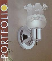Portfolio 4.57-in W 1-Light Chrome Pocket Hardwired Wall Sconce - $23.64