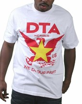 Rogue Status DTA Mens White Worldwide Vietnam Flag Crest T-Shirt Small Medium NW