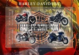 Congo Motorcycle Harley Davidson Tri Glide Ultra Classic Souvenir Sheet ... - $4.88