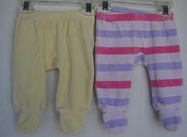2 qty OLD NAVY Soft Fleece Footed Pants Bottoms Infant Newborn 0-3 Months - $8.90