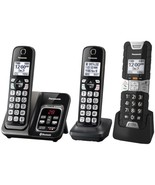 Panasonic KX-TGD583M Link2Cell Bluetooth Cordless Phone with Voice Assis... - $153.08