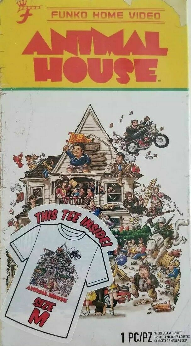 Neuf Homme Animal Maison Funko Home Video VHS Emballé Manche Courte Tee