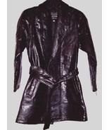 Maxam Italian Mosaic Design Ladies Lambskin Leather Jacket Belted Lined ... - $59.99