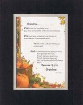 Touching and Heartfelt Poem for GrandParents - Grandma Poem on 11 x 14 inches Do - $15.79