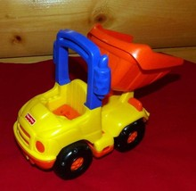"""Little People Fisher-Price Construction 7"""" Dump Truck with Sounds & Flip... - $6.29"""