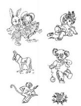 Baby / Nursery Animals embroidery transfer pattern W966   - $5.00