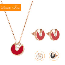 Flying Saucer Necklace Earrings Jewelry Sets Titanium Stainless Steel Fa... - $14.99