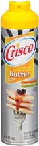 Crisco Butter Flavor No-Stick Cooking Spray, 6 Ounce Pack of 12