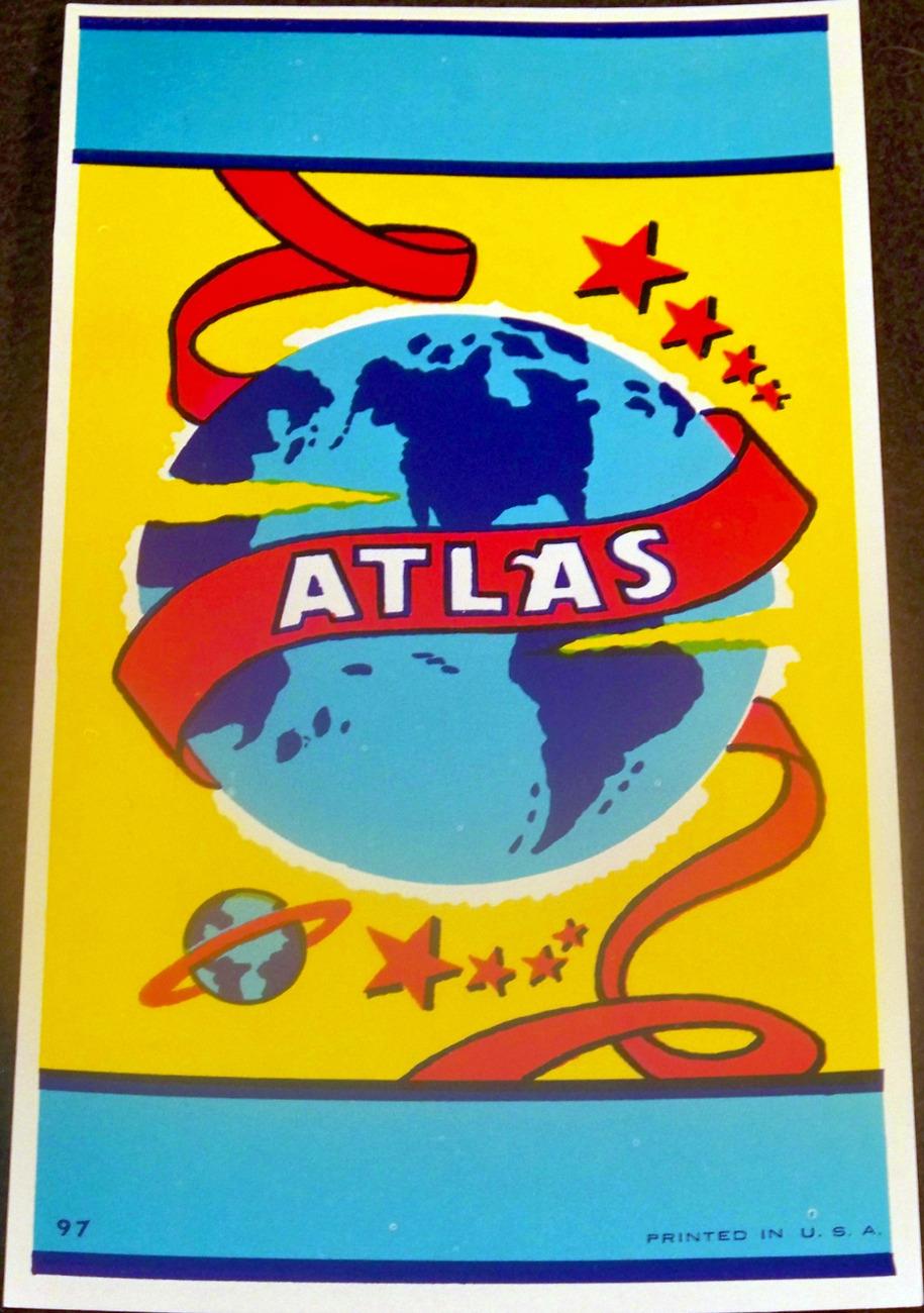 The Famous Atlas Lithograph Label, 1940's