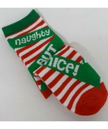 Holiday Edition Christmas Red Green White NAUGHTY BUT NICE Womens Socks ... - $14.84