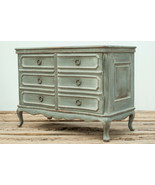 Reclaimed Pine Wood Walnut Top Serpentine French Commode Cabinet.49'' x ... - $2,228.50