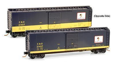 Micro Trains 03100075 C&O 50' Cameo Boxcar 21457