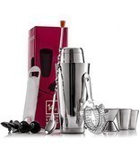 Expert Cocktail Shaker Home Bar Set - 14 Piece Stainless Steel Bar Kit - $26.19 CAD